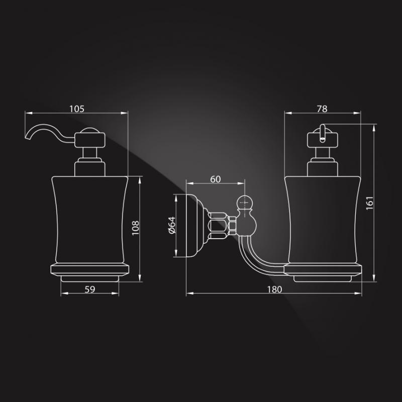 Дозатор для жидкого мыла Elghansa PRK-472