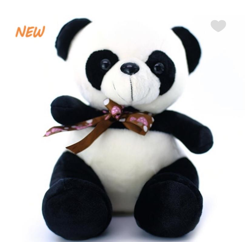 Панда с лентой 30 см