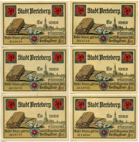 Германия. Нотгельды г. Перлеберг 1921
