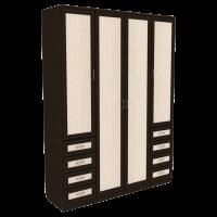 Шкаф для белья со штангой, полками и ящиками арт 112 (венге)