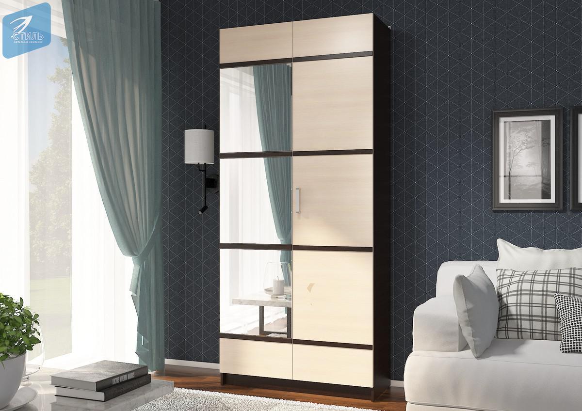 Шкаф с ПВХ декором ЭВА + зеркало  ШК-024