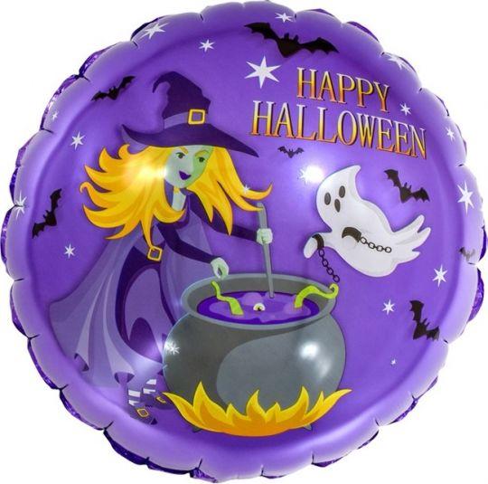 Колдовской Хэллоуин круглый шар фольгированный с гелием