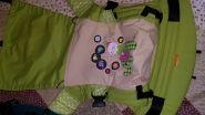 Эрго рюкзак Гусленок СТАНДАРТ  CIRCUS 030 С Молоко 001 - ЛП Зеленое яблоко 030 - ПД Горошек зелёный 035