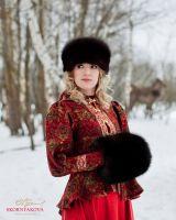 Женская шапка к шубе из соболя купить от производителя фото