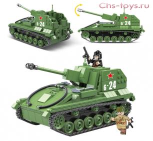 Конструктор QUAN GUAN Танк SU-76M 100085 601 дет