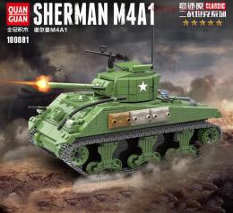 Конструктор QUAN GUAN Танк SHERMAN M4A1 100081 726 дет