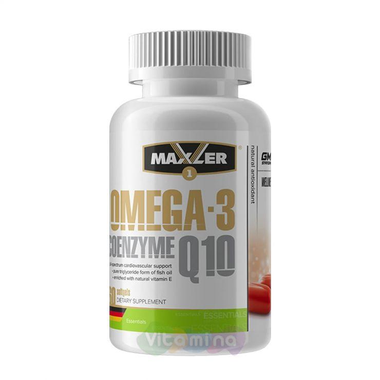 Maxler Омега 3 с Коэнзимом Q10 Omega-3 Coenzyme Q10, 60 капс