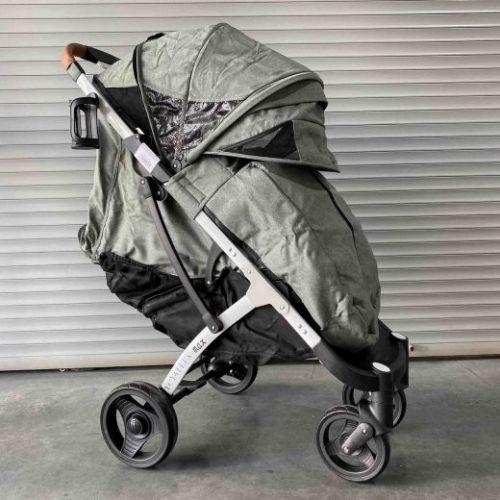 Коляска детская прогулочная Yoya Plus MAX Оливковая на белой раме