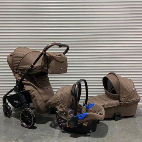 Модульная коляска 3в1 Elephy E70 Коричневый