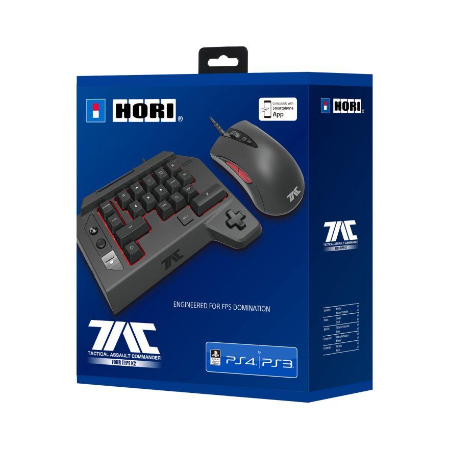 Игровая мышь и Кейпад Hori T.A.C. FOUR Type K2 (PS4-124E) (PS4,PS3)
