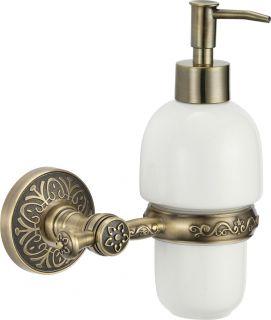 Дозатор для жидкого мыла с настенным держателем S-005831C Savol бронза