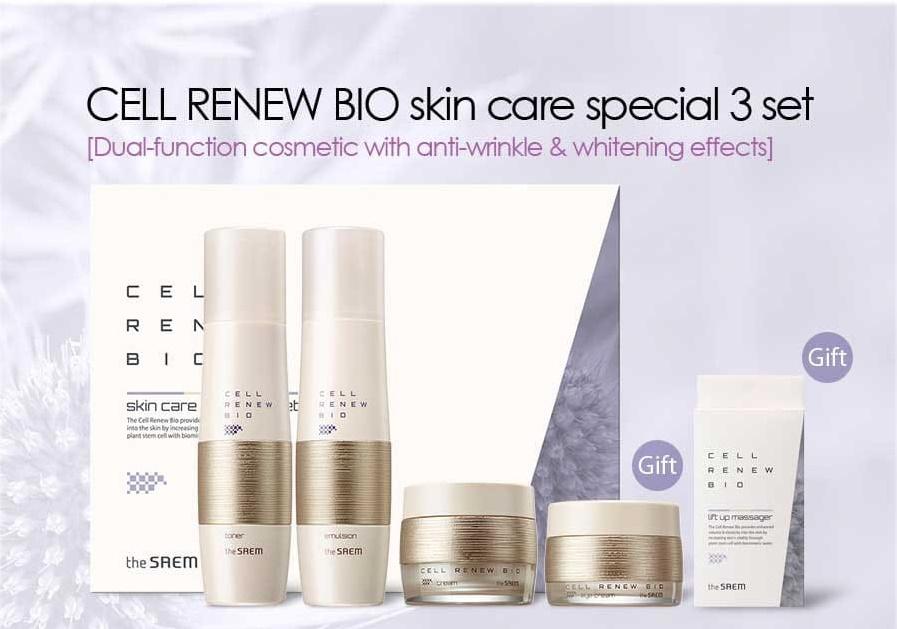 Набор уходовый антивозрастной Cell Renew Bio Skin Care Special 3 Set N  150мл*150мл*60мл*30мл