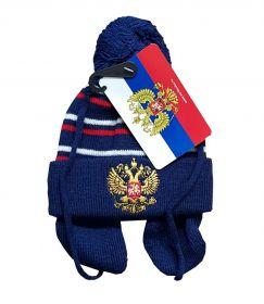 Шапка детская с вышивкой Россия