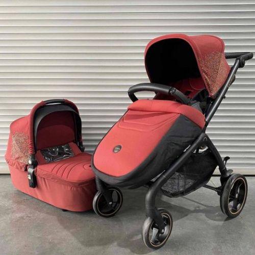 Модульная коляска Luxmom K-92 Красный текстиль