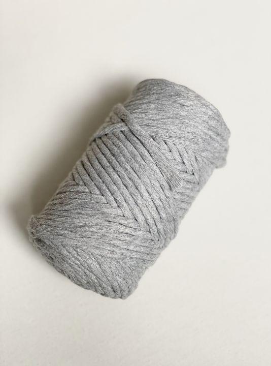 Хлопковый шпагат 4-5мм Цвет серый