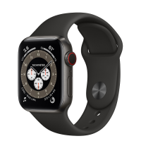 Часы Apple Watch Edition Series 6 GPS + Cellular 44mm Space Black Titanium Case with Black Sport Band