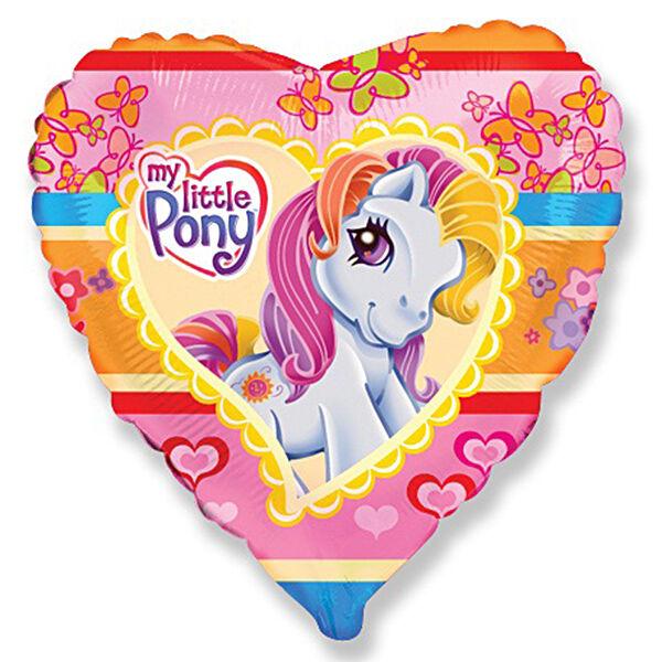Сердце Моя Маленькая Пони шар фольгированный с гелием
