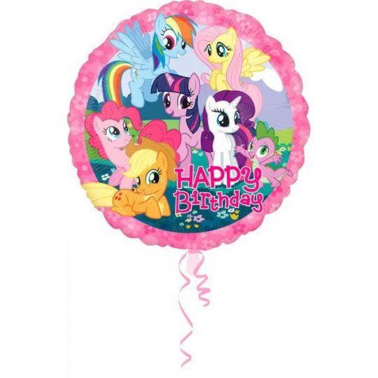 Моя Маленькая Пони С Днем Рождения круглый шар фольгированный круглый с гелием