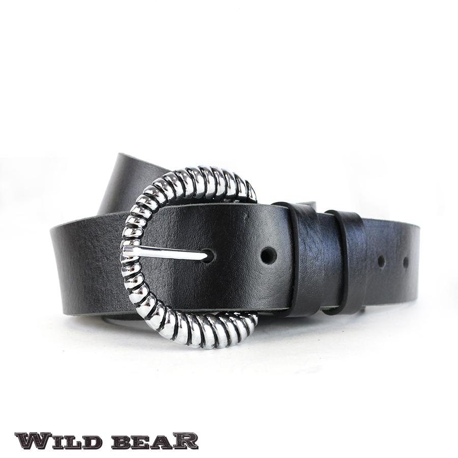 Ремень WILD BEAR RM-027f Black Premium (в деревянном футляре)