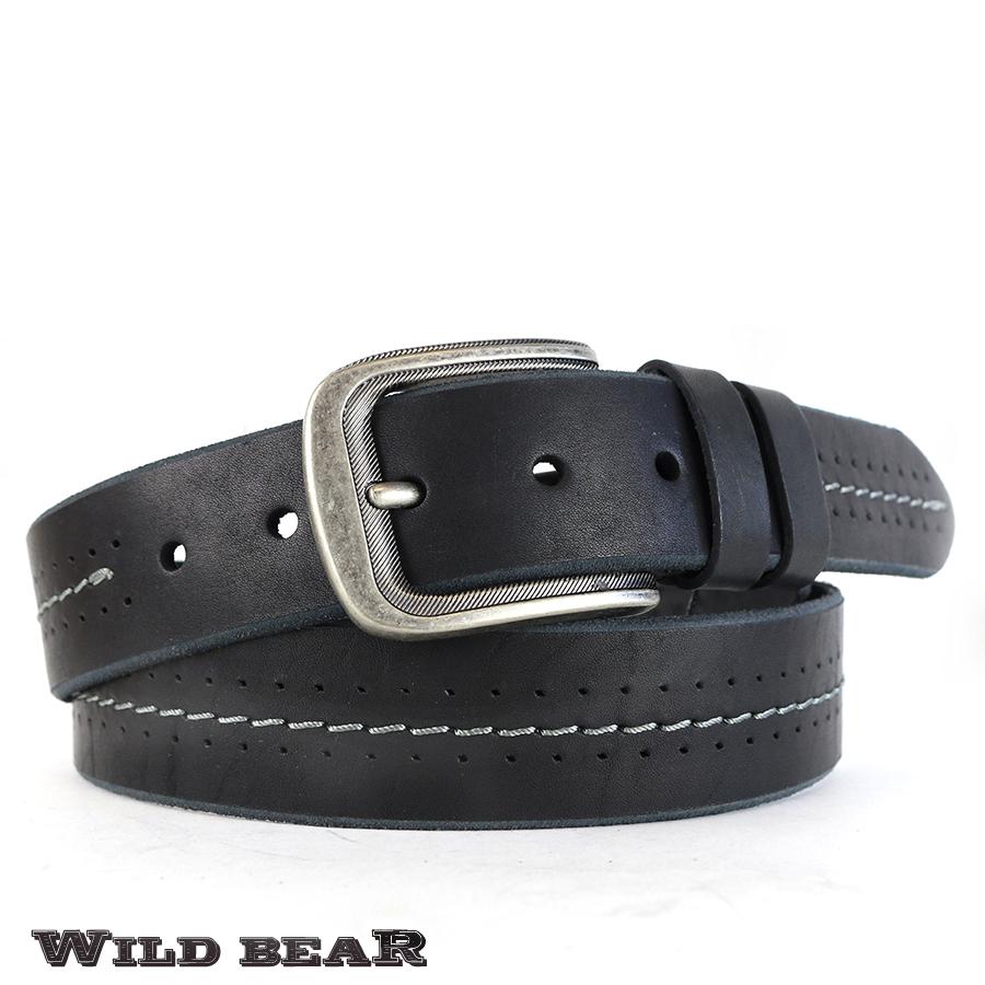 Ремень WILD BEAR RM-041f Black Premium (в деревянном футляре)