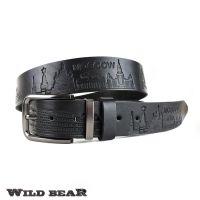 Ремень WILD BEAR RM-050f Black Premium (в деревянном футляре)