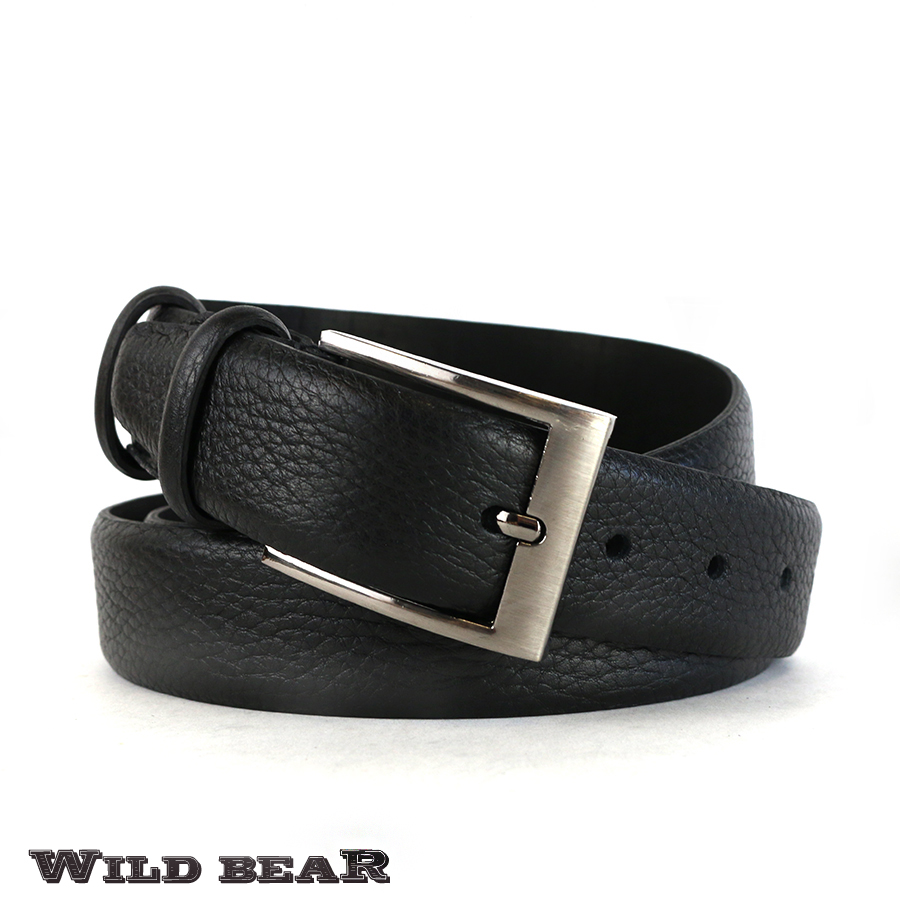 Ремень WILD BEAR RM-044m Black (в кожаном чехле)
