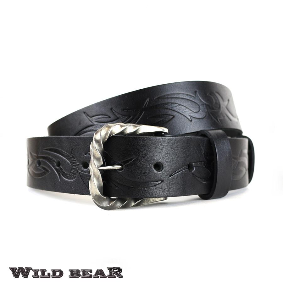 Ремень WILD BEAR RM-053m Black (в кожаном чехле)