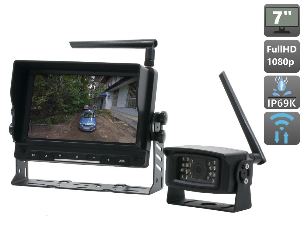 Беспроводной Full HD комплект (камера+монитор) AVS111CPR для грузового транспорта