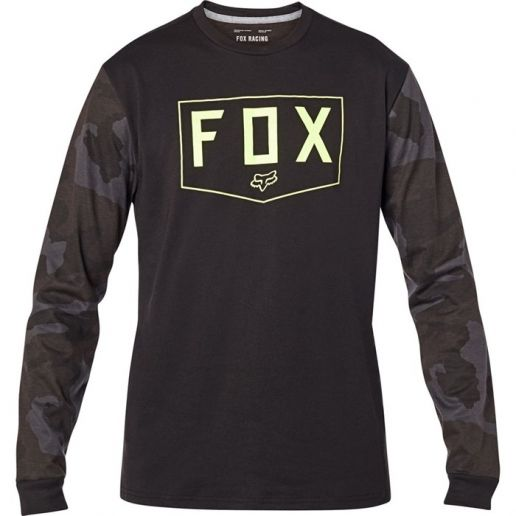 Fox Shield LS Tech Tee Black Camo футболка