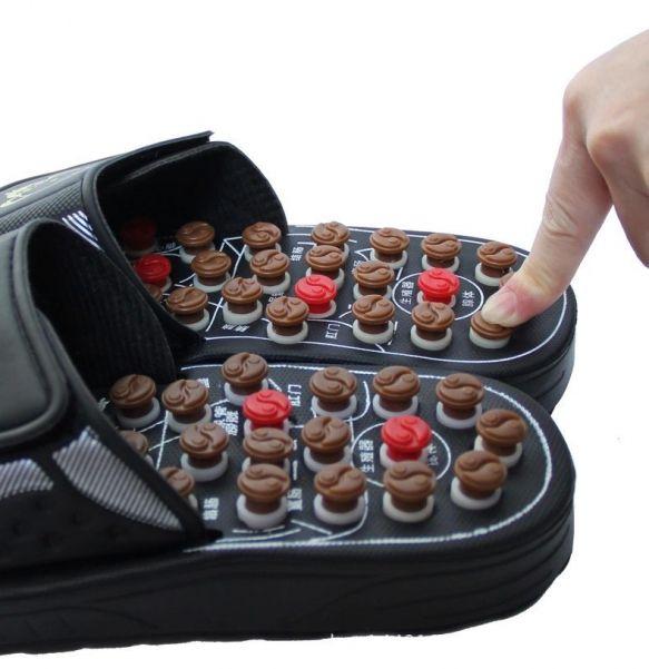 Акупунктурные массажные тапочки с пружинящими кнопками Инь-Янь