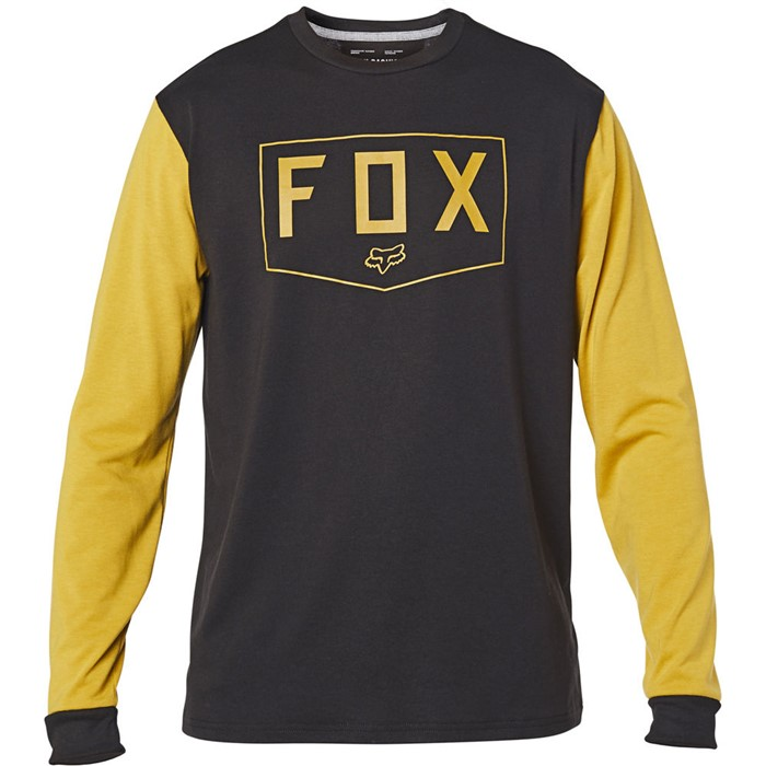 Fox Shield LS Tech Tee Black/Yellow футболка