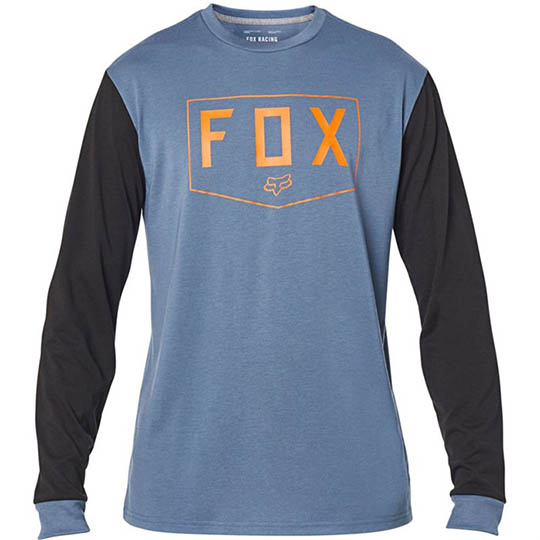 Fox Shield LS Tech Tee Blue Steel футболка