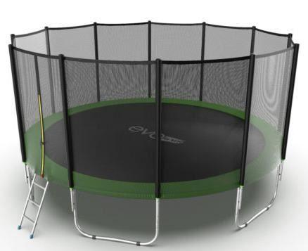 Батут с внешней сеткой и лестницей Evo Jump External 16ft (Green)