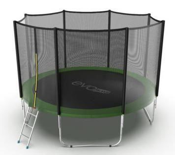 Батут с внешней сеткой и лестницей Evo Jump External 12ft (Green)