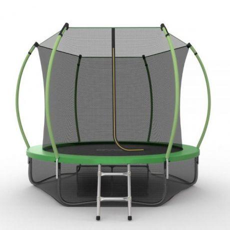 Батут с внутренней сеткой и лестницей Evo Jump Internal 8ft (Green) + нижняя сетка