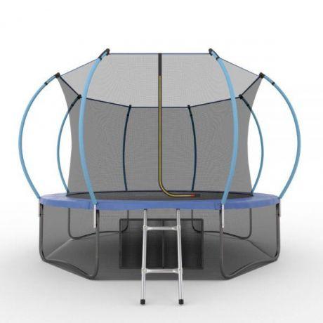 Батут с внутренней сеткой и лестницей Evo Jump Internal 12ft (Blue) + нижняя сетка