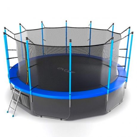 Батут с внутренней сеткой и лестницей Evo Jump Internal 16ft (Blue) + нижняя сетка