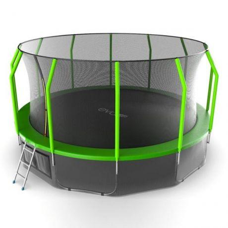 Батут с внутренней сеткой и лестницей Evo Jump Cosmo 16ft (Green)+ нижняя сеть