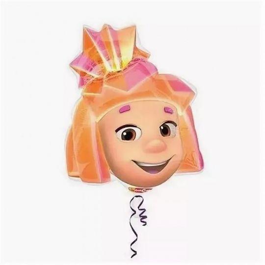 Голова Симки Фиксики шар фигурный фольгированный с гелием