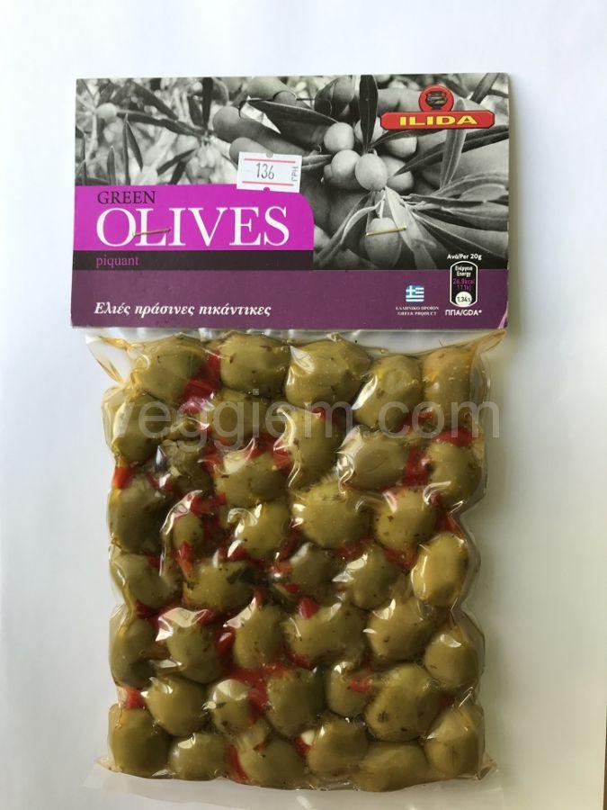 GREEN PIQUANT Agriniou оливки в вакууме,250 грамм