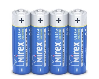 Батарея щелочная Mirex LR6 / AA 1,5V  4 шт (4/40/720), shrink