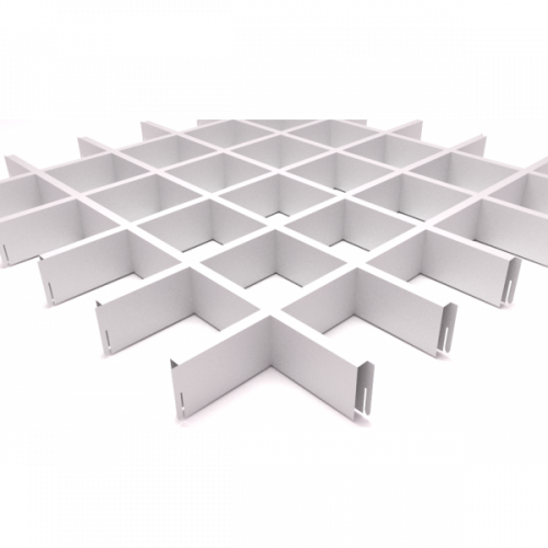 Алюминиевый потолок грильято