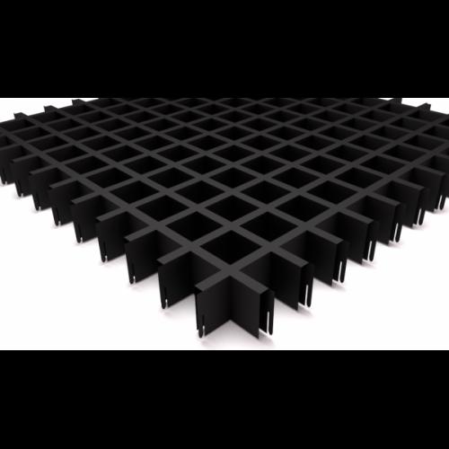 Потолок грильято 50х50 черный
