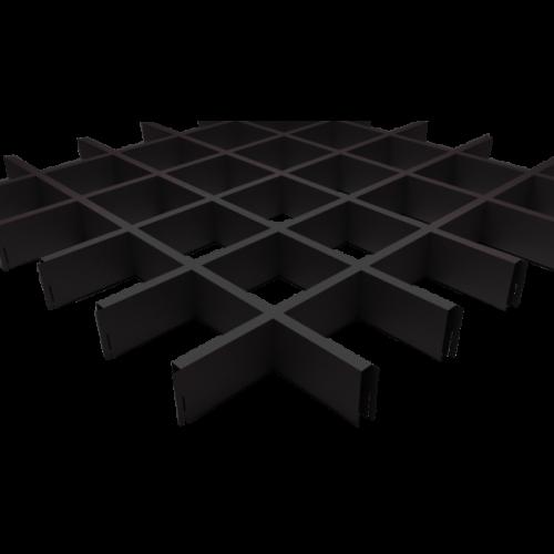 Потолок грильято 100х100 черный