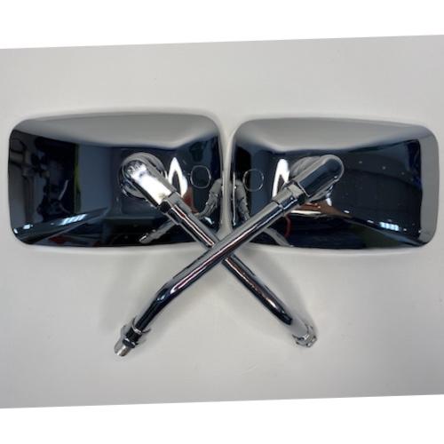 Зеркала заднего вида (010) D10 металл (бобовидное, хром) (2 шт. в комплекте)