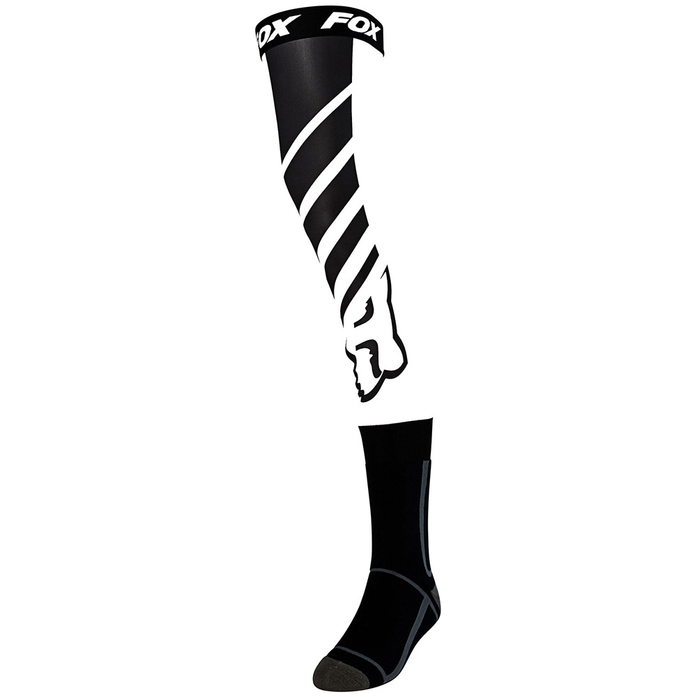 Fox Mach One Knee Brace Sock Black/White чулки под наколенники