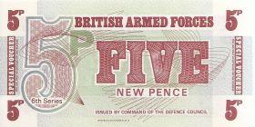5 новых пенсов для военной торговли  Великобритания1972