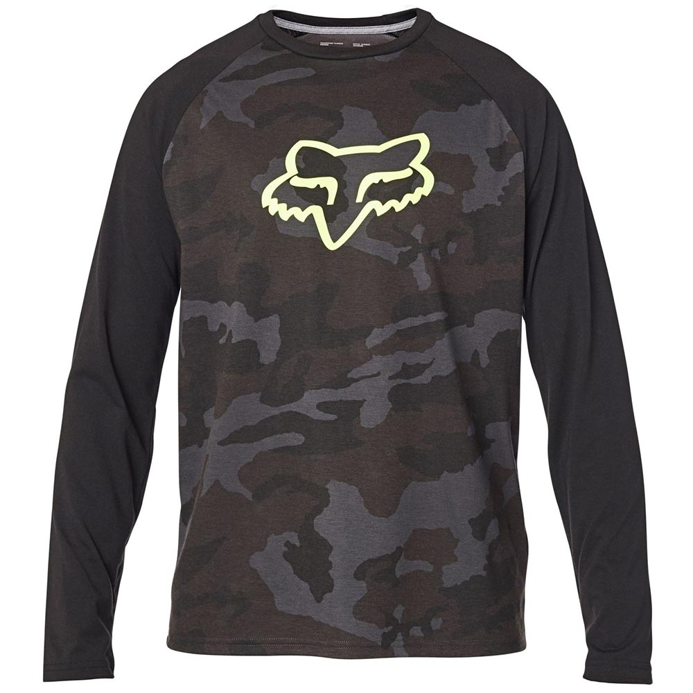 Fox Tournament LS Tech Tee Black Camo футболка