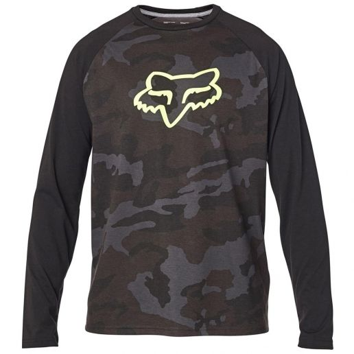 Fox Tournament LS Tech Tee Black Camo футболка