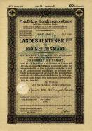Германия 100 рейхсмарок Ценная бумага Государственное пенсионное письмо 1937-1940. UNC.ПРЕСС Мультилот